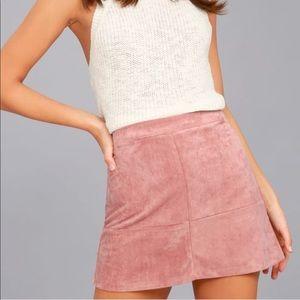 Burgundy boho skirt